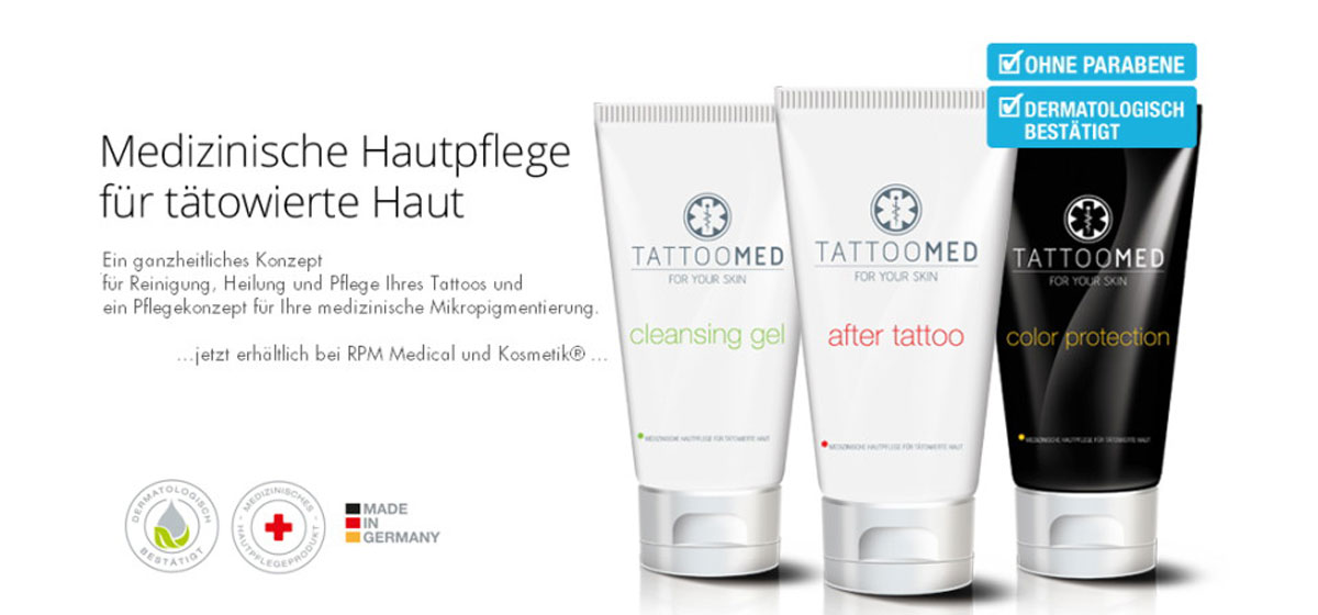 Pflegeprodukte - TattooMed®  | RPM Medical & Kosmetik Rafael-Peter Mischewski Mönchengladbach