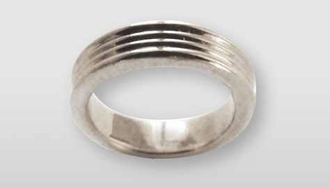 Special Sign Ring Wave - Ring gerieft 925 Sterling Silber | RPM Medical & Kosmetik Rafael-Peter Mischewski Mönchengladbach